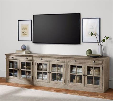 Livingston Large TV Stand   Pottery Barn