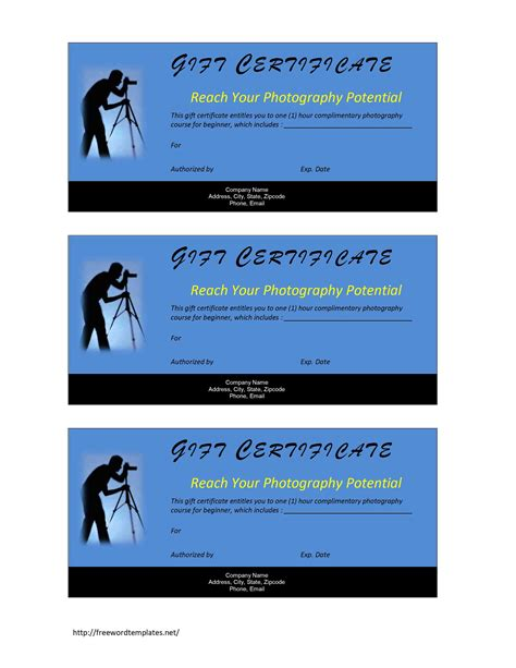 photography gift certificate template memes