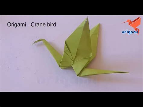 Origami Crane For Beginners - how to make a origami crane for beginners