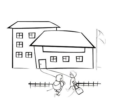 escuela lecturas infantiles dibujos para colorear y pintar imagenes de escuelas para colorear e imprimir de los