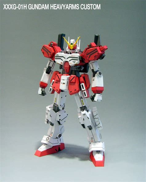 Paper Craft Gundam - xxxg 01h gundam heavyarms papercraft by rarra