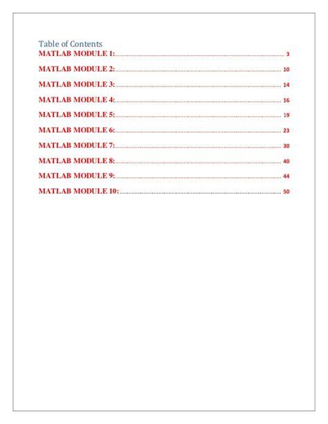 Matlab Documentation