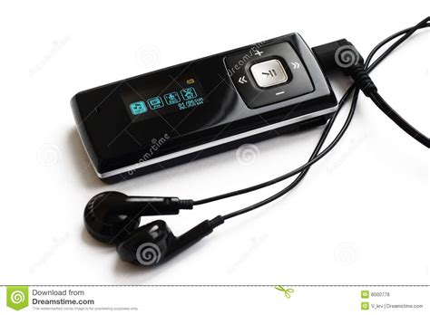 real mp3 real mp3 player with headphones royalty free stock photos