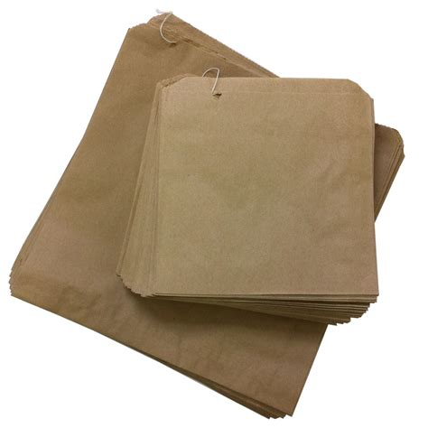 Brown Craft Paper Bags - kraft brown paper bags strung 8 5 x 8 5 qty 1000