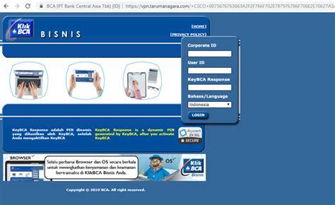 vpn tarumanagara  log  klikbca bisnis  aplikasi