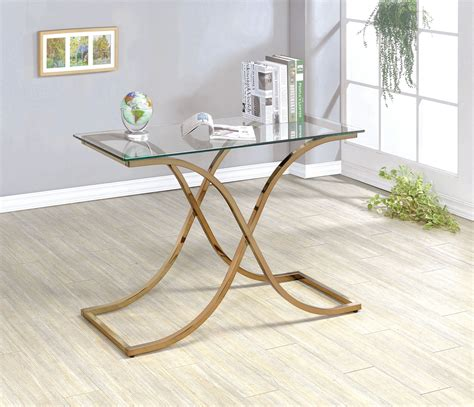 X Frame Side Table Furniture Of America Lexine Curved X Frame Chagne Side Table