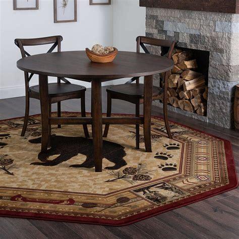southwestern power loom brownred rug   octagon
