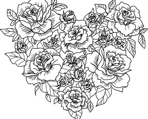 coloring pages more images roses 12 coloring rose flower coloring pages