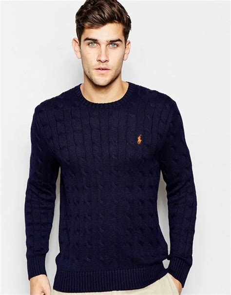 ralph navy cable knit jumper polo ralph polo ralph jumper with cable