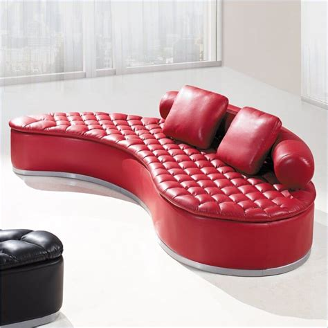 red leather modern sofa 18 stylish modern red sectional sofas