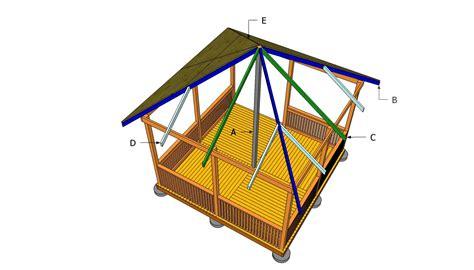 gazebo roof plans amazing how to build a square gazebo roof garden landscape