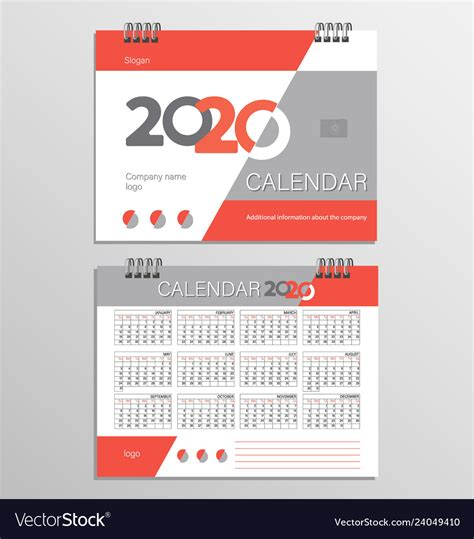 desk calendar template   year royalty  vector