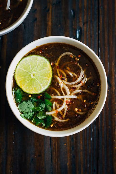 vegan pho  daikon noodles   full