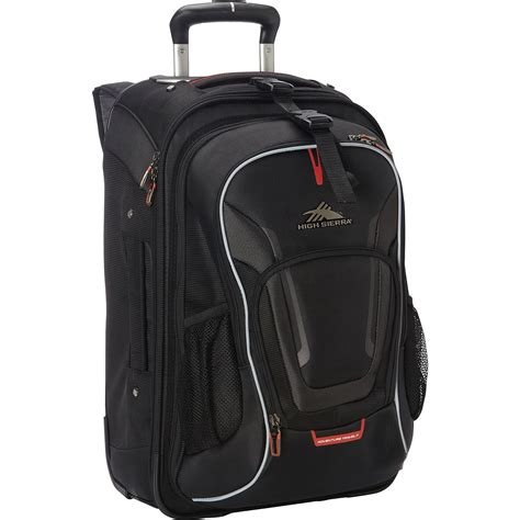 carry  wheeled backpack  removable daypack