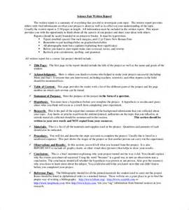 science fair report template science project report ideas about research paper on