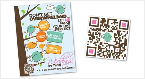 poster design with qr code weddings by tanzi poster qr code cre8tivefocus