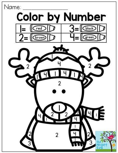 reindeer printables kindergarten color by number reindeer so cute my kids just love this