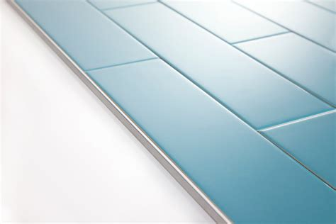 Turquoise Backsplash by Using Schluter Trim Profiles With Subway Tile
