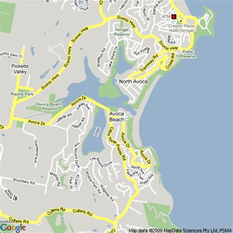 forresters resort map map of avoca nsw hotels accommodation