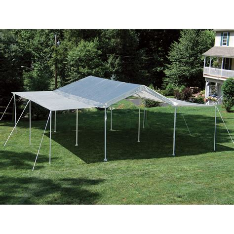 umbrella awning shelterlogic 2 in 1 maxap outdoor canopy tent 20ft l x