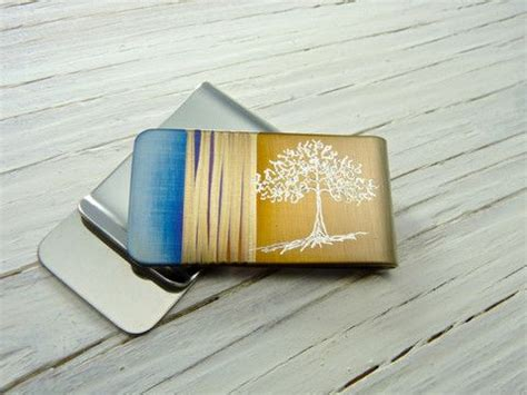 winter tree money clip the rave n iron pin by the rave n iron on unique gifts for men pinterest