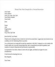 Second Interview Thank You Letter Template 40 Sample Interview Thank You Letters