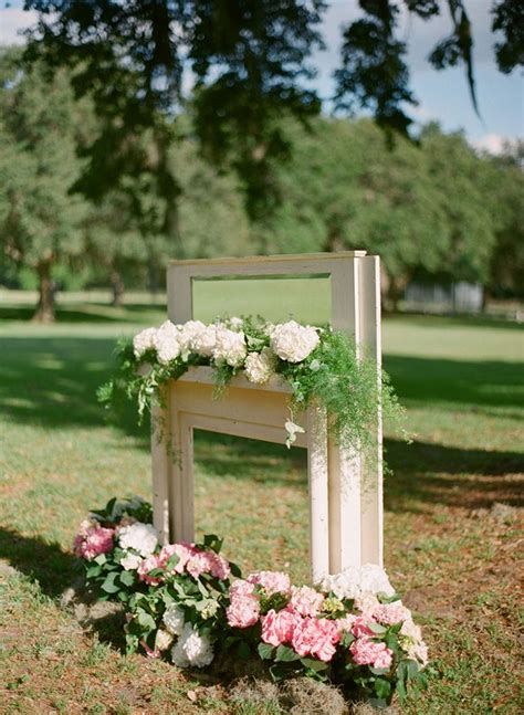 Fireplace Wedding Altar by Fireplace Altar Justin Demutiis Photography