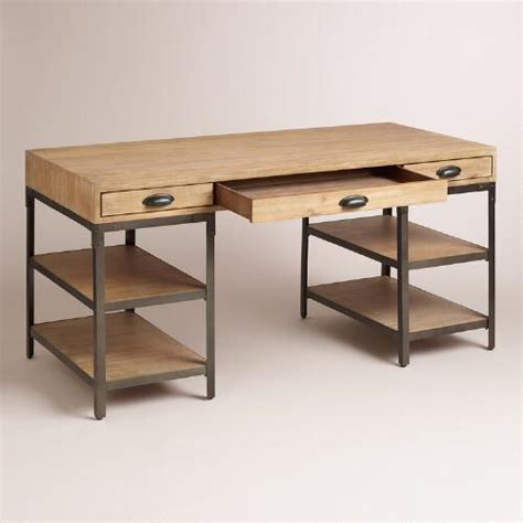 wood and metal desk from cost plus world market