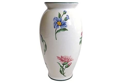 And Co Vase by Co Floral Ceramic Vase Vintage And Antiques