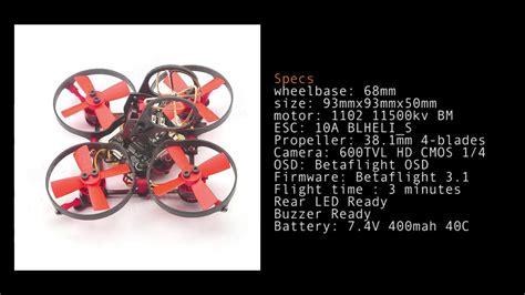 Eachine M80 Micro Frame 80mm 8520 Coreless Motor Brushed eachine 100 mini brushless fpv racer rc drone frame kit