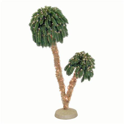 general foam 6 ft pre lit double palm artificial