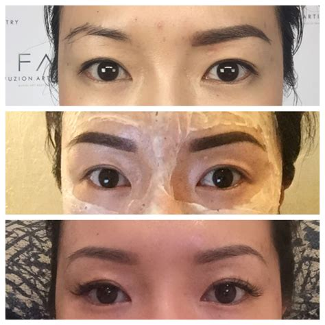 tattooed eyebrows healing process eyebrow cost prep procedure what you should