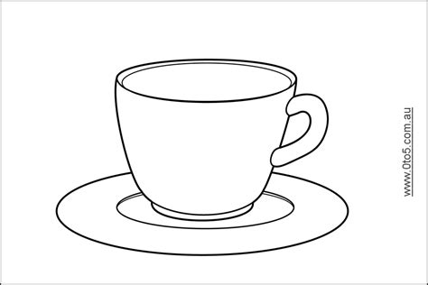 free coloring pages of teacup and saucer