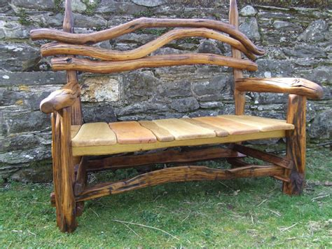 outdoor rustic bench natural impression for wood bench ideas and unique back