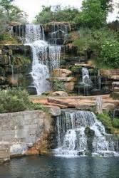 man  waterfall tuscumbia alabama stock photo