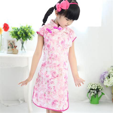 Cotton Cheongsam 2013 child small child summer cotton cheongsam dress tang suit fashion costume indresses