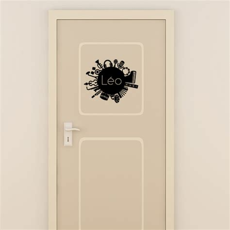 stickers porte chambre custom door decal