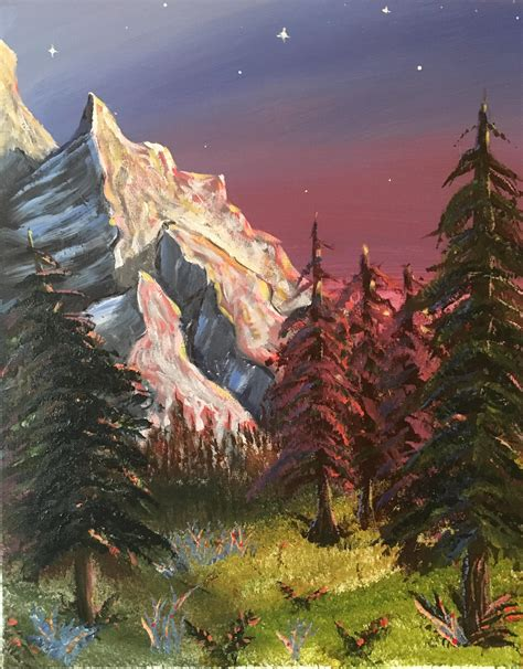 bob ross painting marshlands my bob ross attempt i m 30 and this is the
