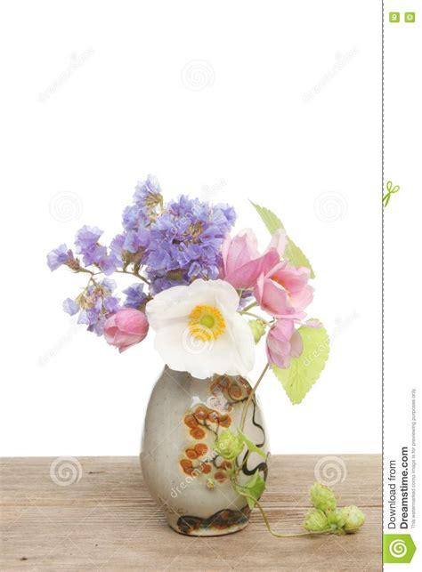 small flower arrangement stock photo image  white