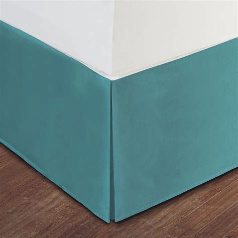 turquoise bed skirt turquoise luxury hotel bed skirt tailored pleat 14 quot drop