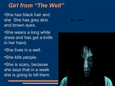 Frock Horror Of The Week Janet Porter by Quot Our Favourite Horror Characters Quot By Primary 6 A