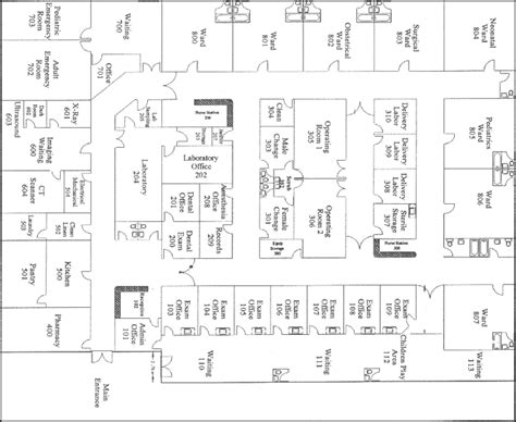 floor plan of a hospital hospital building plans images