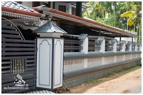 kerala house compound wall designs photos house compound wall photos universalcouncil info