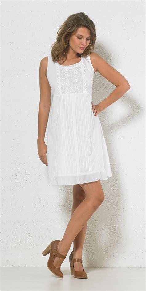 Robe Blanche Courte Femme - robe blanche brod 233 e courte coline