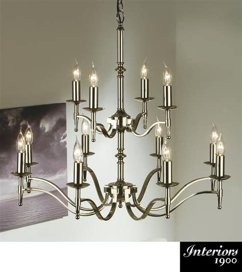 Interiors 1900 Stanford by Interiors 1900 Stanford 12 Light Chandelier Polished