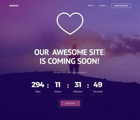 30 Free Html5 Website Under Construction Coming Soon Templates Coming Soon Template