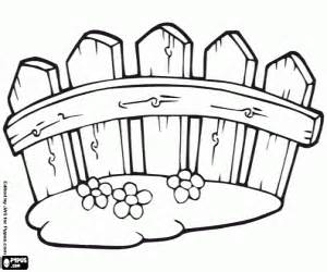 Fence Coloring Page sketch template