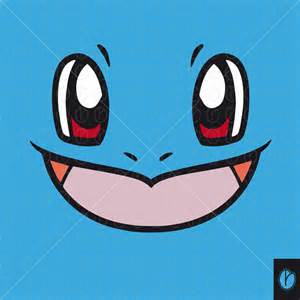 Wall Stickers Printing squirtle cute face pokemon cut svg eps vector water pokemongo