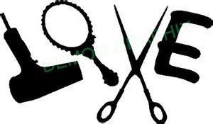 Hair Dryer Stiker hair stylist with mirror dryer scissors vinyl