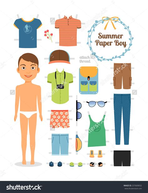 paper doll clothes clipart 79